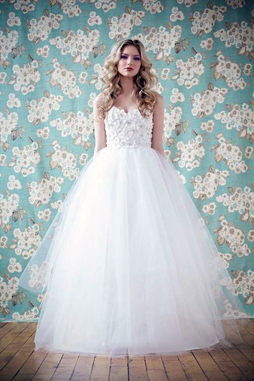 Simple Cinderella Wedding Dress For
