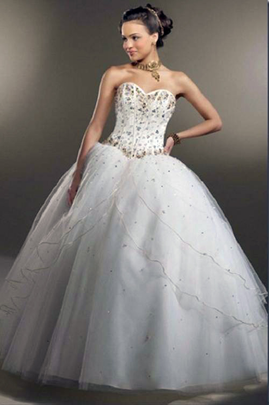 Simple Cinderella Wedding Dress Images