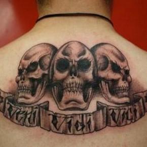 Skull LA Ink Tattoos For Men Pictures