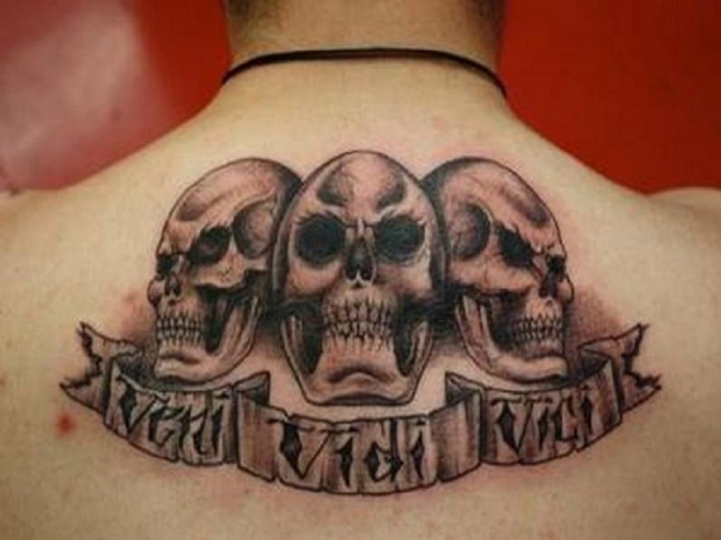 Skull LA Ink Tattoos For Men Pictures