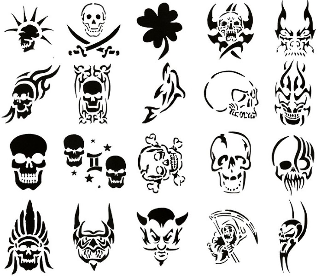 Skull Tattoo Stencil Designs Pictures