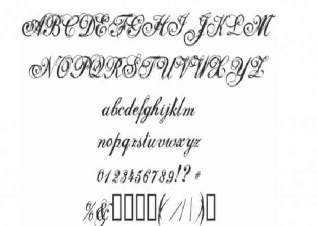 Sophisticated Selfish Cursive Font Tattoos