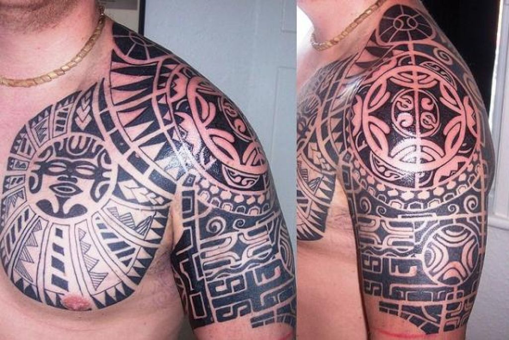 Sophisticated Tribal Shoulder Tattoo Ideas Pictures