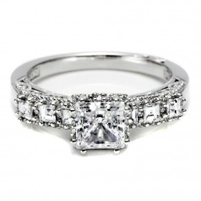 Square Solitaire Engagement Ring Images Pictures