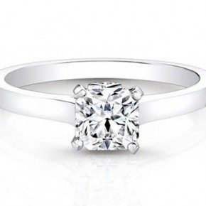 Square Solitaire Engagement Rings Pictures