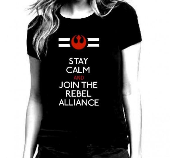 Star Wars T-Shirts For Women, Star Wars Rebel Alliance Black T Shirt for by repurposefulPUNK