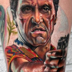 Stefano Alcantara Scarface Color Best Tattoo Pictures