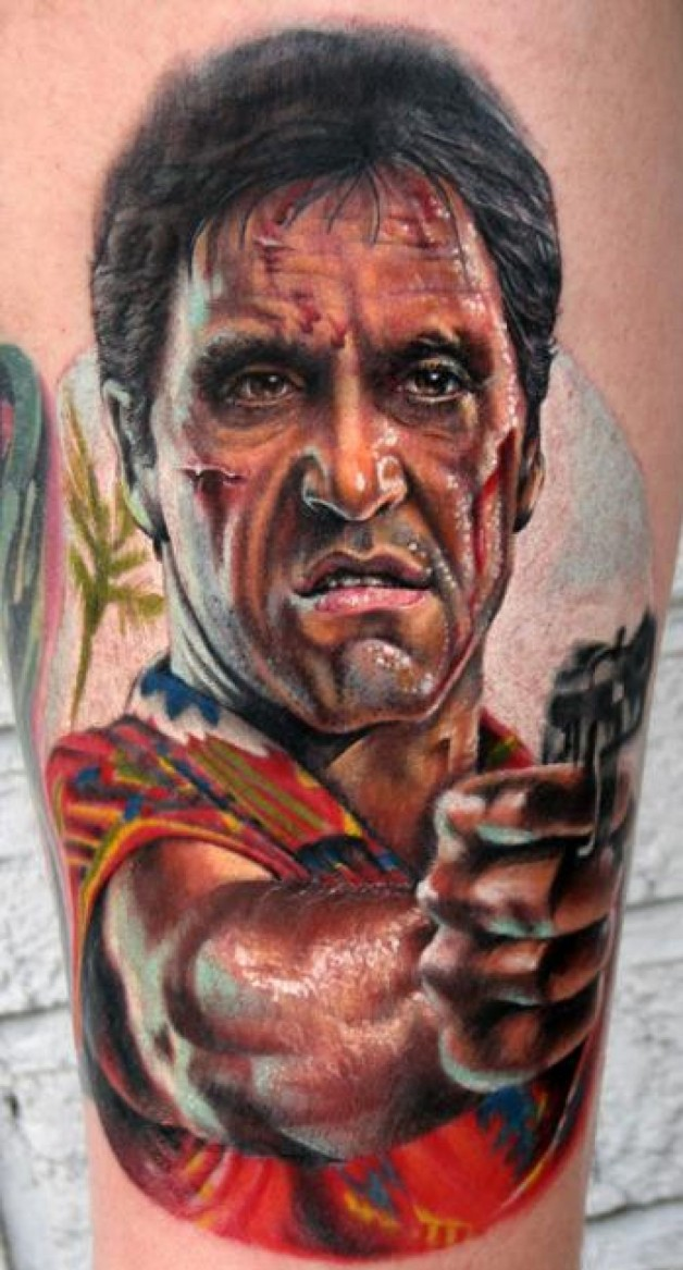 Stefano Alcantara Scarface Color Best Tattoo