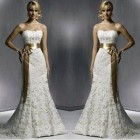 Strapless Lace Wedding Gowns Images Pictures