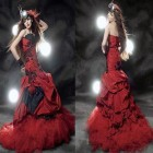 Strapless Red Dress Long Pictures