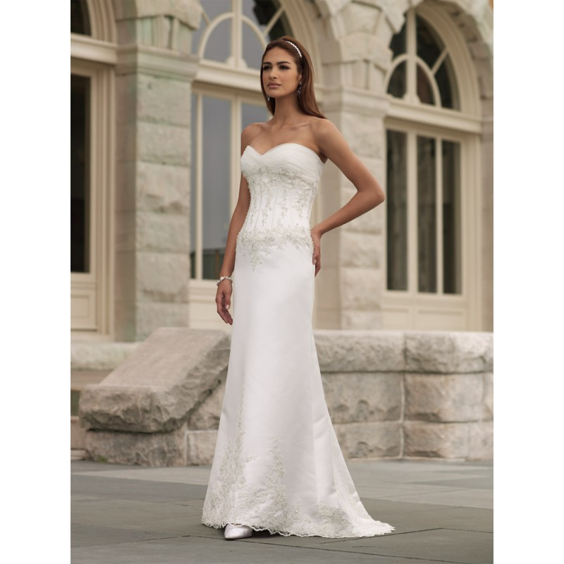 Strapless Wedding Dresses New Style Beaded No Train Dress
