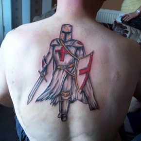 Stunning England Knight Back Tattoo Pictures