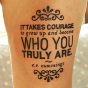 Stylish Foot Tattoo Quote Design Pictures