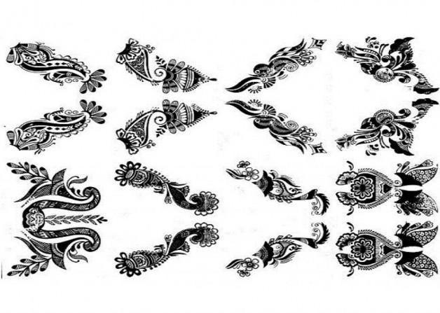 Stylish Henna Tattoo Stencil Designs