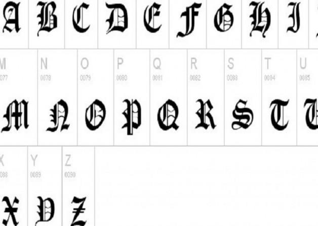 Stylish Old London Font Tattoo Cursive Inofashionstyle Com