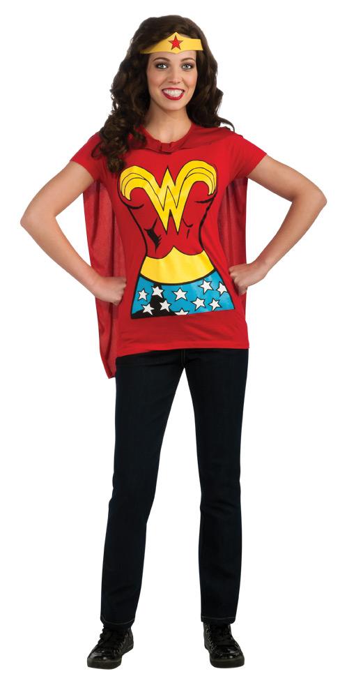Superhero T-Shirts For Women, Wonder Woman T Shirt Women's Superhero Costume Kit