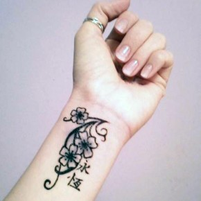 Tattoo For Women On Wrist Flowers Pictures
