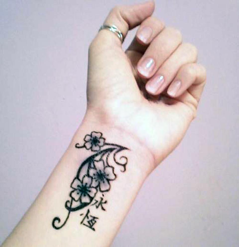 Tattoo For Women On Wrist Flowers