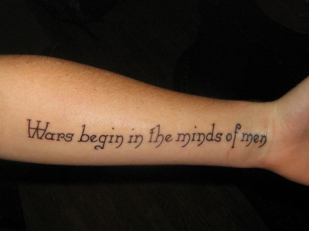 Tattoo Quotes For Hands Design