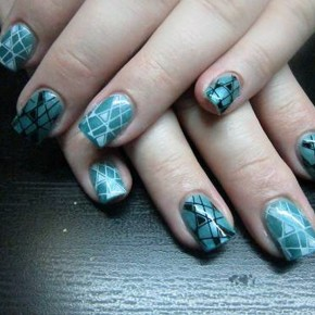 Teal Nails With Design Ideas Pictures
