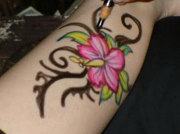 Temporary Flower Tattoo For Hands