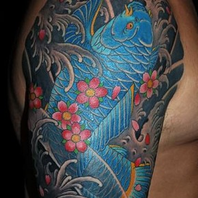Traditional Japanese Koi Fish Tattoo Pictures