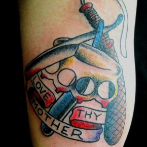 Traditional Sailor Jerry Lovethy Neighbor Mother Tattoos Pictures