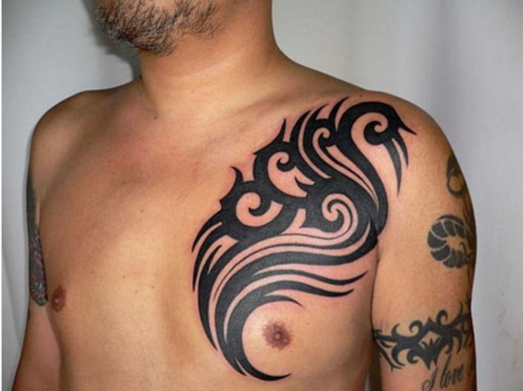 Tribal Chest Tattoo Design Ideas Pictures