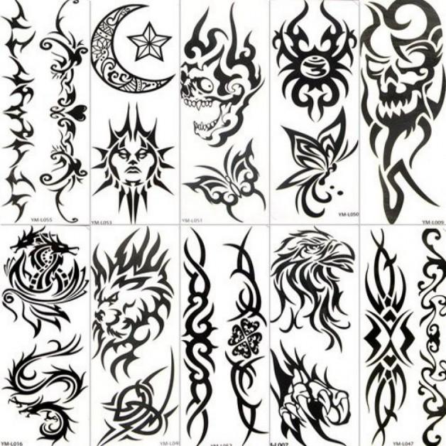 Tribal Temporary Tattoo Stiker Paper