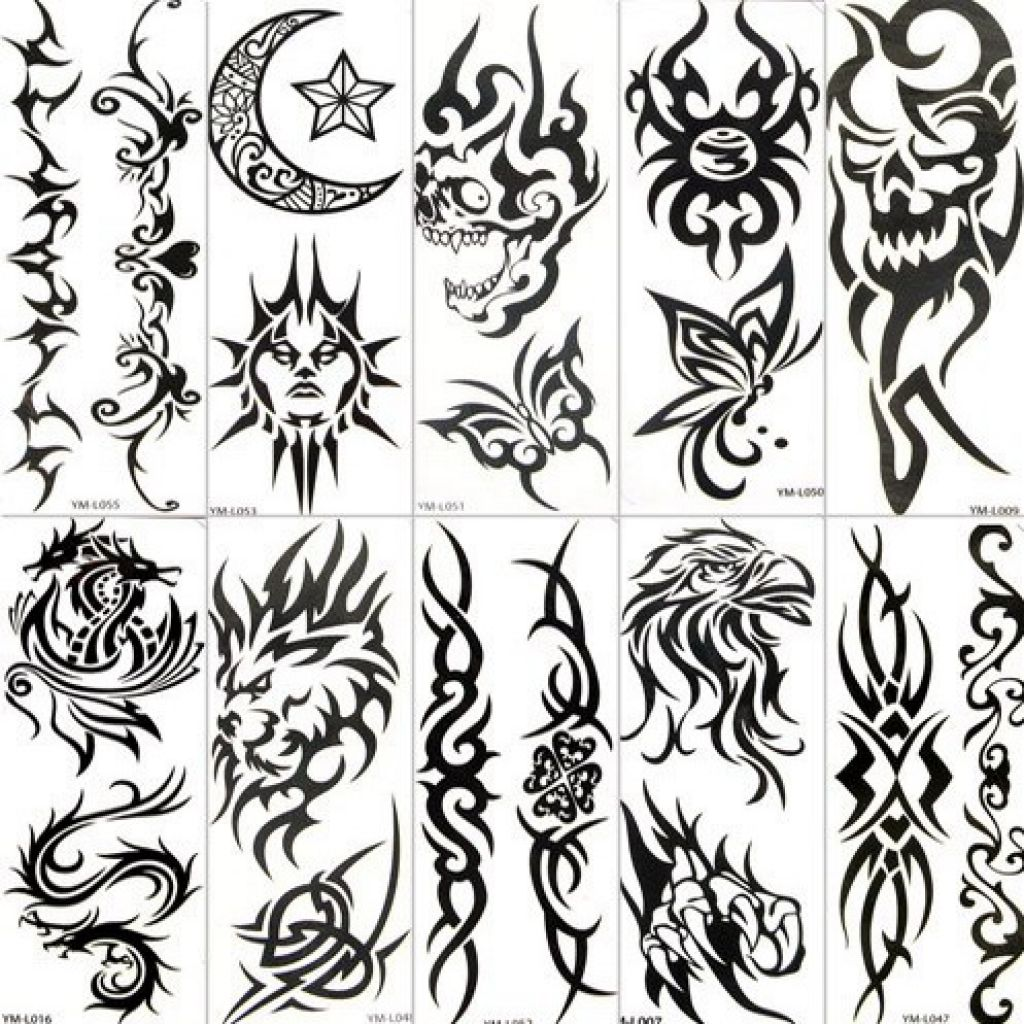 Tribal Temporary Tattoo Stiker Paper Pictures