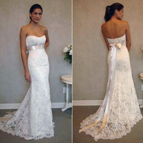 Trumpet Wedding Dresses Sweetheart Neckline Pictures