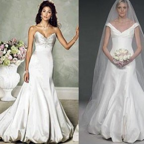 Trumpet Wedding Dresses With Long Trains Pictures