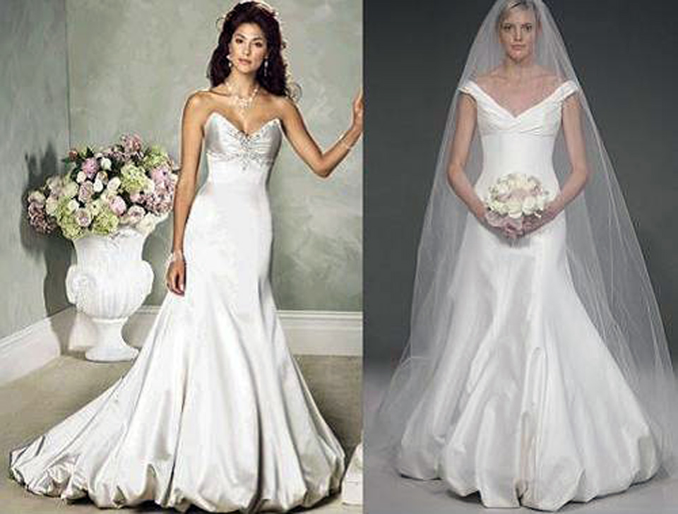 Trumpet Wedding Dresses With Long Trains