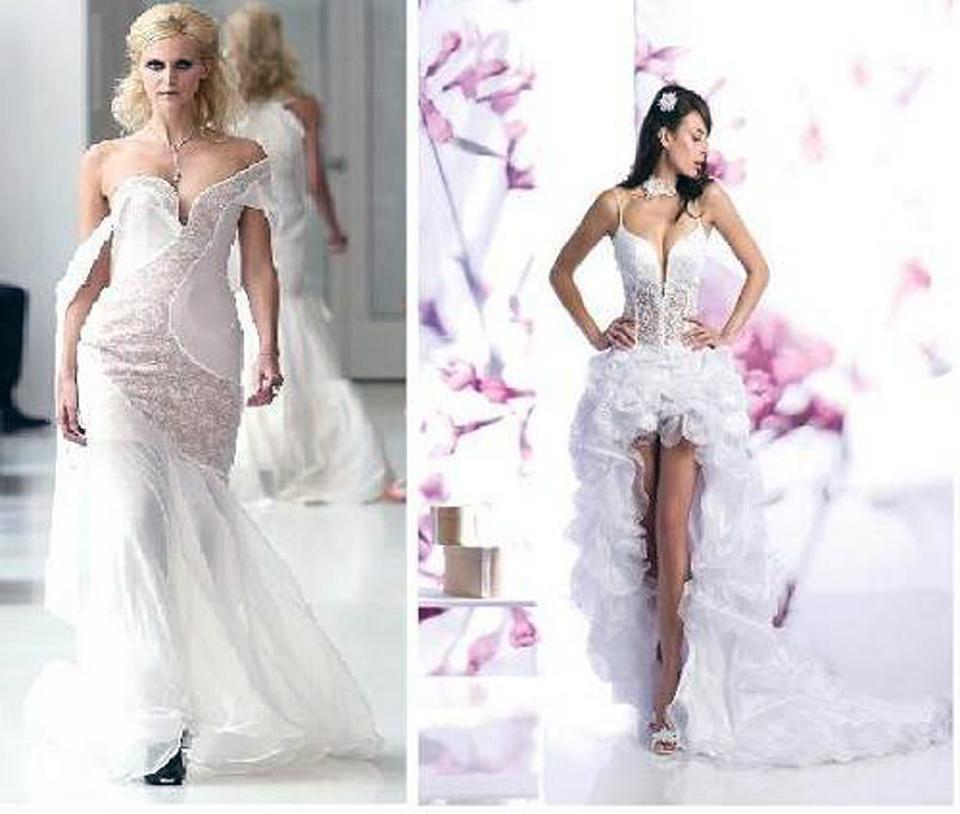 Under The Knee Sexy Wedding Dress 2013