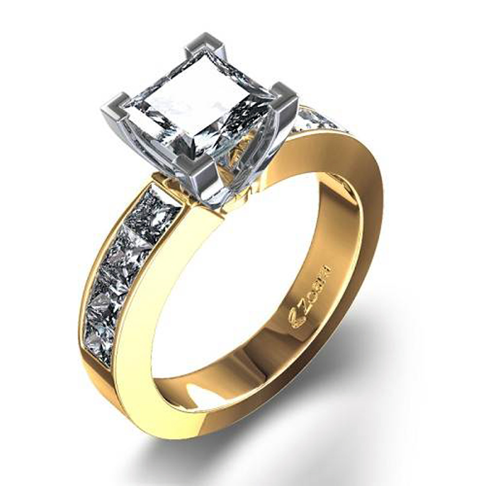 unique princess cut rings gold inofashionstyle