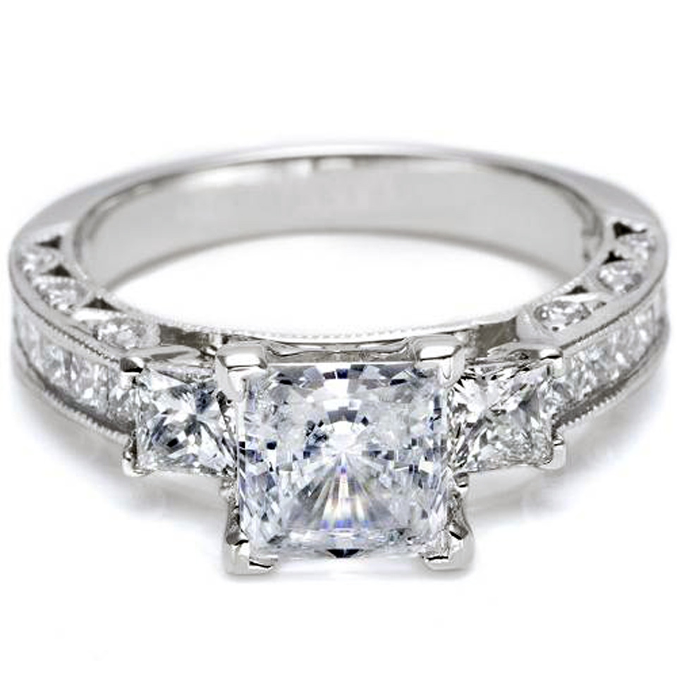 Unique Princess Cut Rings Images