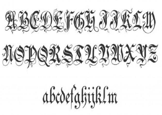 Unique Zenda Cursive Tattoo Fonts