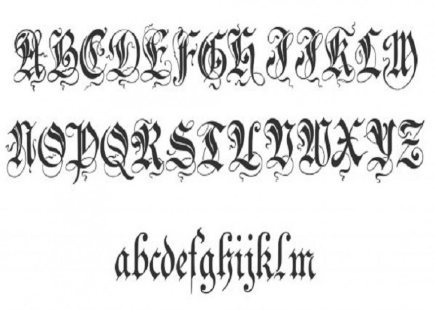 Unique Zenda Cursive Tattoo Fonts Pictures Fashion Gallery