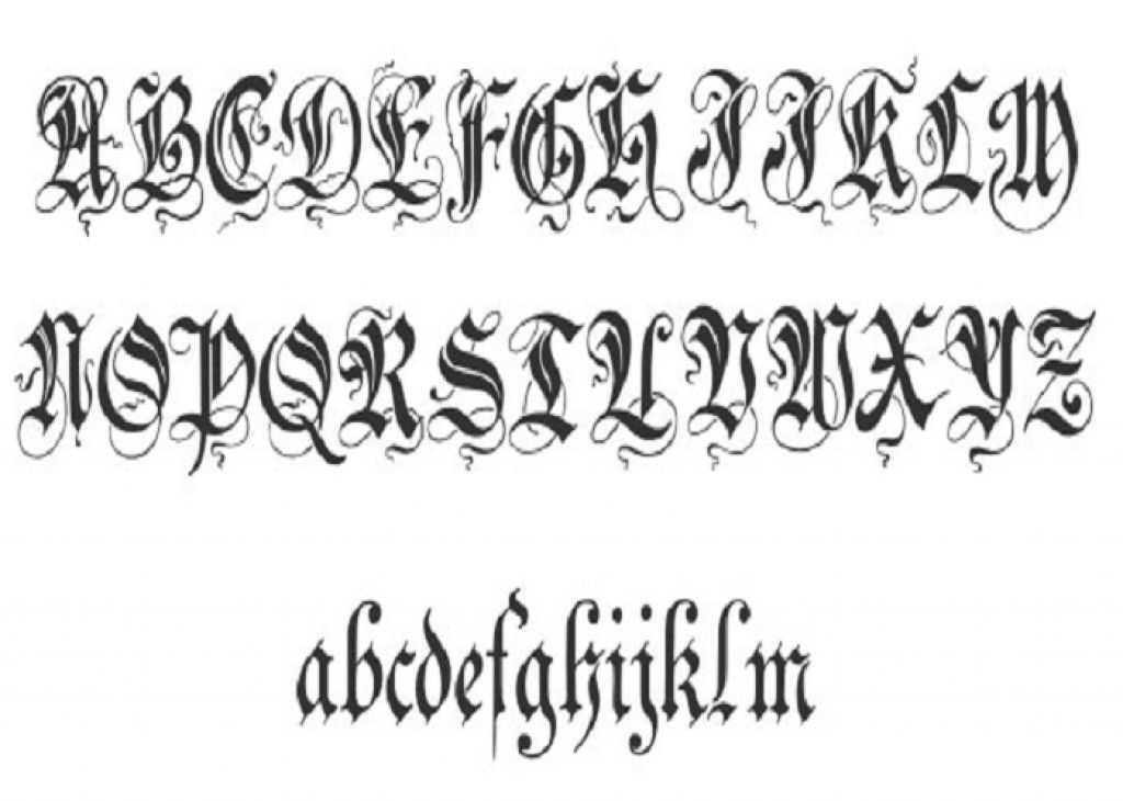 Unique Zenda Cursive Tattoo Fonts Pictures