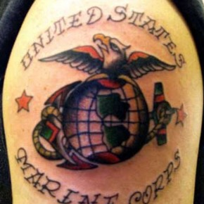 United States Marine Corps Tattoo Design In War Pictures