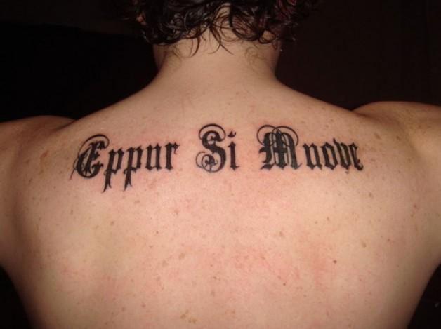 Upper Back Short Tattoos Quotes