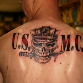 Usmc Back Marine Tattoo Design Pictures