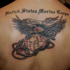 Marine corps tattoos usmc back marine tattoo design for Marine corps tattoo regulations