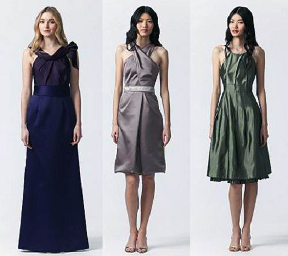 Vera Wang Bridesmaid Dresses Black