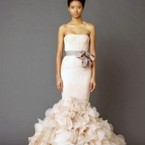 Vera Wang Pink Wedding Dresses Ideas Pictures