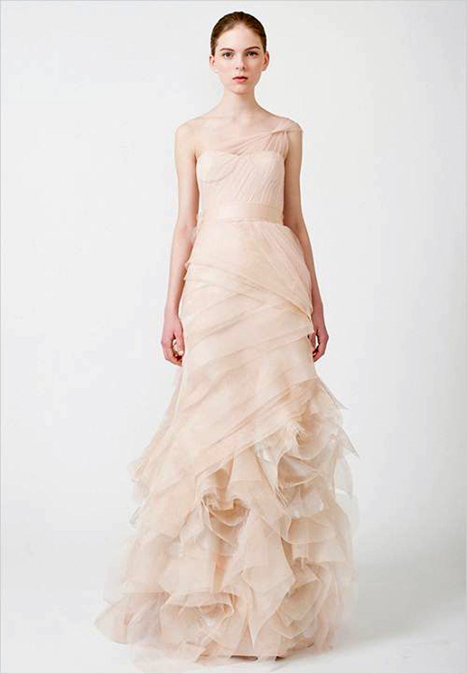 Vera wang pink wedding dresses pattern for Red wedding dress vera wang