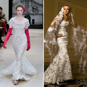 Vera Wang Wedding Dress Lace Mermaid Pictures