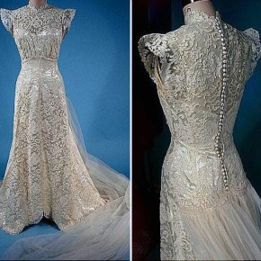 Vintage Lace Wedding Dress With Sleeves Pictures