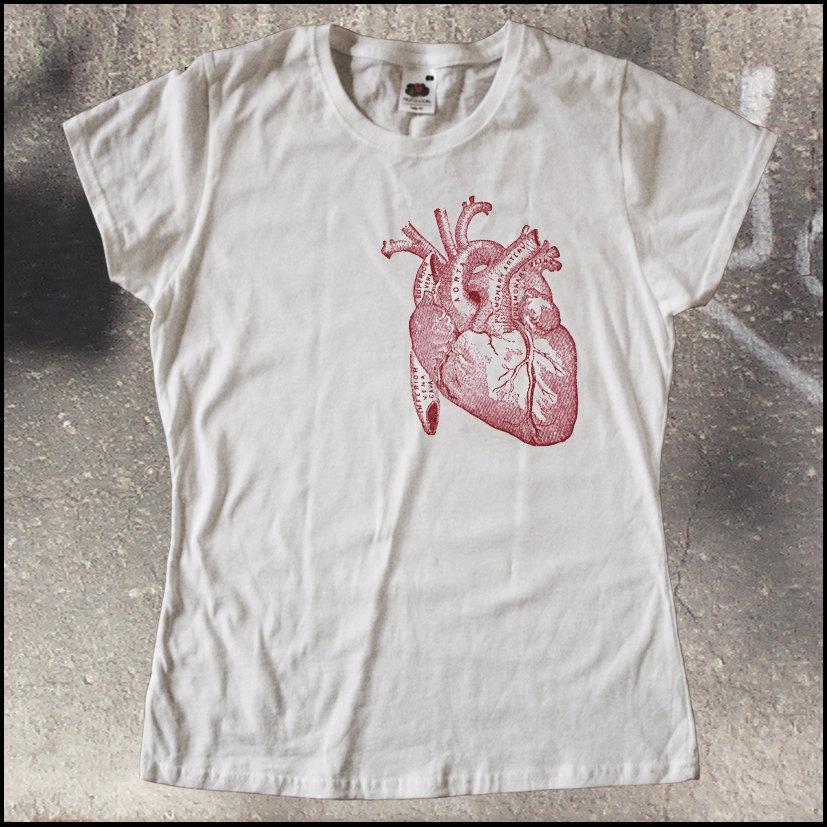 vintage t shirts for men vintage anatomy heart t shirt men ladies sxxl by shirttown on etsy. Black Bedroom Furniture Sets. Home Design Ideas