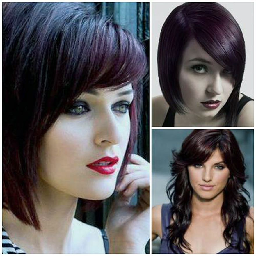 Violet Brown Hair Color Photos